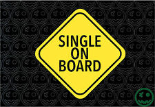 SINGLE ON BOARD STICKER DECAL 140mmH Yellow Funny Off Road, 4X4 Car Van Scooter.