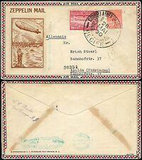 110/Zeppelin Brasilien 1930 Südamerikafahrt MiF Brief Apolda LZ 127 Si 59 B