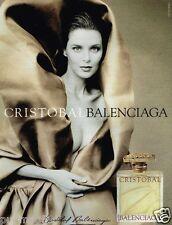 Publicité advertising 1999 Parfum Cristobal Balenciaga