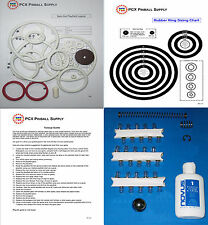 1975 Gottlieb Spin Out  Pinball Basic Tune-up Kit - Includes Rubber Ring Kit