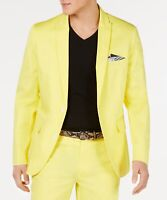 INC Men's Blazer Golden Kiwi Yellow Size XS Slim-Fit Two-Button $129- 577