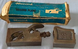 Record Bull Nose Shoulder Rabbet Plane No. 311 Carpenters Tools Made in England