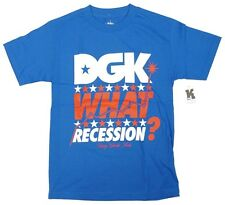 DGK Dirty Ghetto Kids WHAT RECESSION Mens Short Sleeve T-Shirt Blue Small NEW