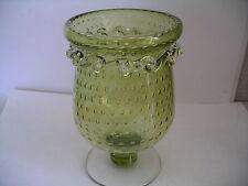 Pilgrim Controlled Bubble Applied Glass Celery Spooner Vase
