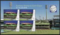 Australia 2019 MNH Sports Stadiums Cricket Sydney Stamp & Coin 4v M/S Stamps