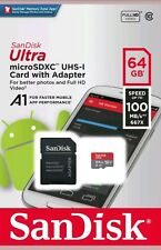 New SanDisk 64GB microSDXC 100 MB/s Ultra micro SD SDXC Class 10 UHS-1 Card