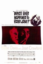 WHATEVER HAPPENED TO BABY JANE? Movie POSTER 27x40 Bette Davis Joan Crawford