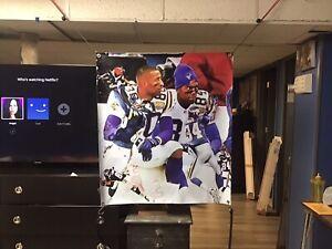 HUGE! 40x36apx RANDY MOSS Vinyl Banner Poster Minnesota Vikings Cris carter Art