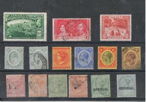 JAMAICA - Lot of old stamps