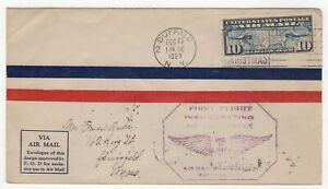 1927 Dec 17th. First Flight Cover. Route No.20. Buffalo to New York.