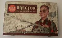 Vtg 1959 Gilbert # 10053 Erector The Rocket Launcher Set -Motor Works- Instruct.