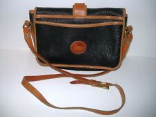 Vintage DOONEY & BOURKE, Black Pebble Leather, Crossbody Purse w/ Outside Pocket