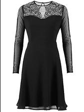 Celebrity Designer Sz 8 Black Embellished Prom DRESS Occasion Party Wedding £96