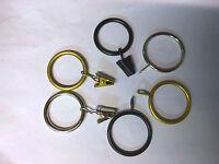 Heavy Duty Metal  Curtain Rod Ring Pole Loop Hook Rail Black ,Silver& Brass Gold