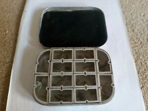 Vintage Fishing Fly Tins and Flies.,   Wheatley. With 12 compartments.