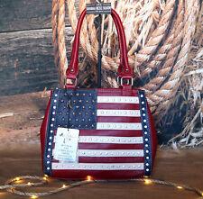 US04G-8036 Montana West American Pride Concealed Handgun Handbag USA US Flag Red