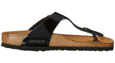 Birkenstock Gizeh Black Birko-flor Patent Womens Leather Sandals 6 UK 39 EU 8 US