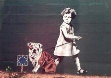 BANKSY BANKSEY BREXIT BRITISH BULLDOG GIRL A4 POSTER PICTURE PRINT WALL ART