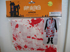 BLOODY APRON Halloween Costume spooky party cook haunt fun Dexter Chainsaw