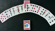 Invisible Deck Professional magician quality Bicycle Cards red magic trick (New)
