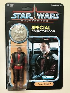 RETRO COLLECTION GREEF KARGA ON  POWER OF THE FORCE CARD & COIN SILVER COIN or ?