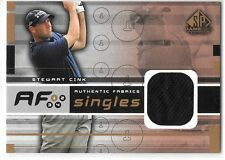 2003 SPGU SP Game Used Stewart Cink Authentic Fabrics Shirt Jersey Relic
