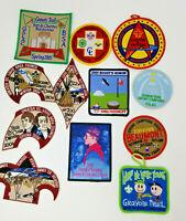 Vintage Set of 12 Boy Scouts Patches 2000s Survivor Cookout Lewis Clark Camporee