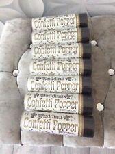 7 Metallic Wedding Confetti Poppers - Brand New & Sealed