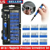 60 in 1 Magnetic Precision Screwdriver Set PC Phone Electronics Repair Tool Kit