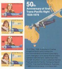 1978 Australian Aviators Mini Sheet Imperforate MNH