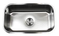 """30"""" Stainless Steel 16 Gauge Undermount Single Bowl Kitchen Sink"""