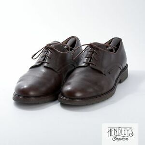 MEPHISTO Derby Shoes 12.5 D in Chocolate Brown Pebble Leather Air Relax