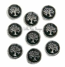 Black Family Tree of Life Floating Charm for Living Memory Pendant Necklace