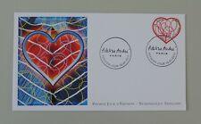France 1er jour 4632 AA 648 oblitéré 1er jour 13 01 2012 coeur adeline andré