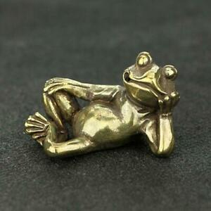 Solid Brass Frogs Figurine Animal Figurines Decoration Small Frog Statue Gifts
