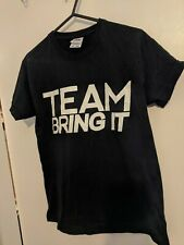 Boys black WWE The Rock Team Bring It t-shirt age 9-10-11