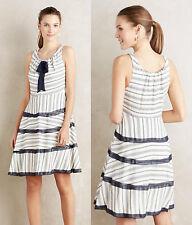 ANTHROPOLOGIE Eva Franco NWT Orchard Hill Dress White Navy Stripes Sz 4 S $168
