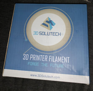 3D Solutech Silver Metal 3D Printer Premium PLA Filament 1.75mm, 2.2 Lbs (1.0kg)