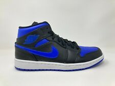 Jordan 1 Mid Black Royal Blue 554724-068 Men Sz 8-10 Nike Air Retro Basketball