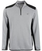 Greg Norman Mens Sweater Gray Size XL Ottoman Ribbed 1/4 Zip Pullover $70 013