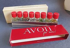 Avon For Men Miniature Cologne Set of 8 Demonstration Kit 1 Dram Bottles in Box