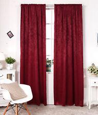 2er Gardine Thermo Vorhang mit Kräusel blickdicht 135x225cm Bordeaux VH5887bd-2