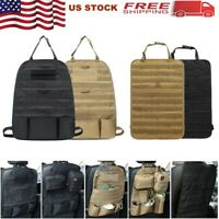 Tactical Car Seat Back Organizer Bag Molle Vehicle Panel Pouch Cover Protector