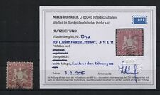 Württemberg 19 y a gestempelt  BPP-Kurzbefund (B04405)
