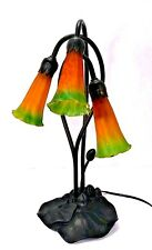 Classic Tiffany style lily lamp. Night light.  Accent lamp. Glass lily shades