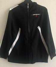 Carbrini hooded zip up sports jacket, black, 9/10 years