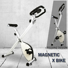 Folding Magnetic Upright Bicycle Training Fitness Stationary Flywheel X-Bike FRW