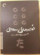 Seven Samurai Criterion Collection Dvd Akira Kurosawa 3-Disc Set +Booklet Ln f/s