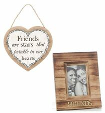 Friends Photo Frame With Heart Plaque Gift Set  NEW Gift Idea