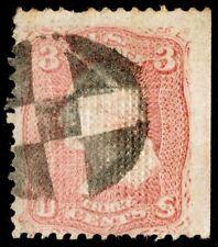 "US Sc# 85 VAR USED { ""SCARCE D GRILL 10c WASHINGTON } FANCY CANCEL 1867 CV$ 1150"